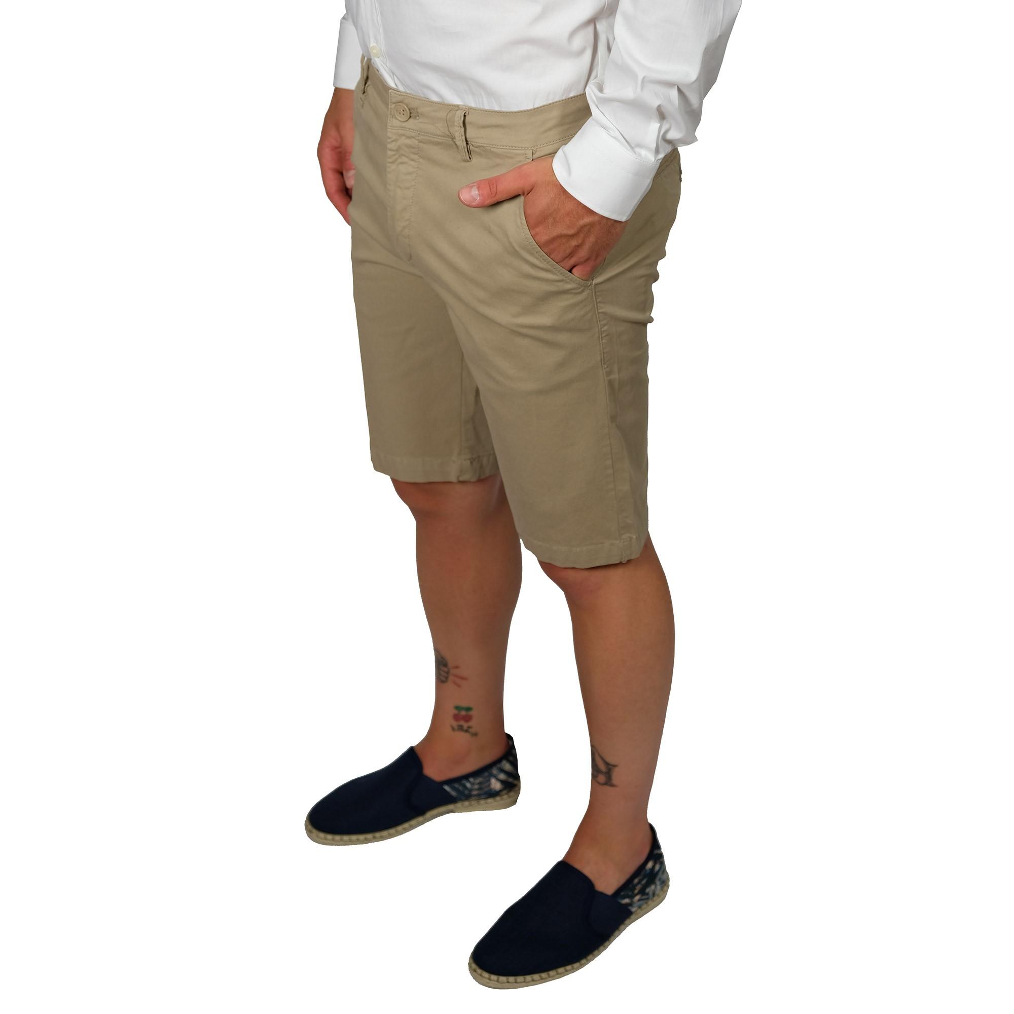 Bermuda-Uomo-Cotone-Jeans-Pantaloncini-Pantaloni-Corti-Tasca-America-Slim-Shorts miniatura 12
