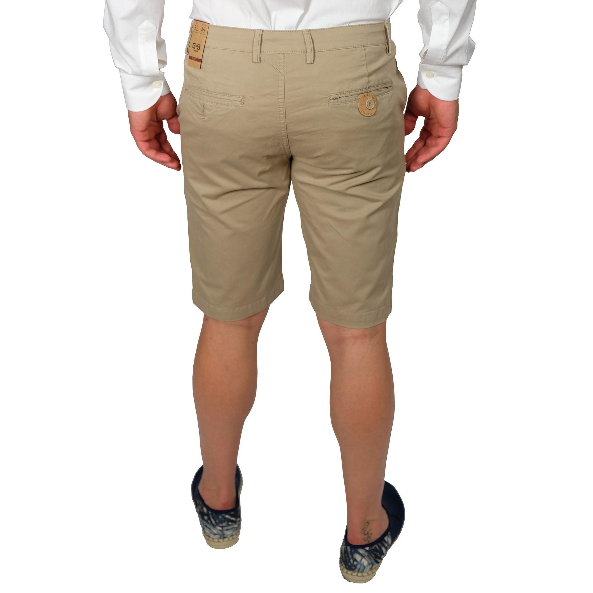Bermuda-Uomo-Cotone-Jeans-Pantaloncini-Pantaloni-Corti-Tasca-America-Slim-Shorts miniatura 13