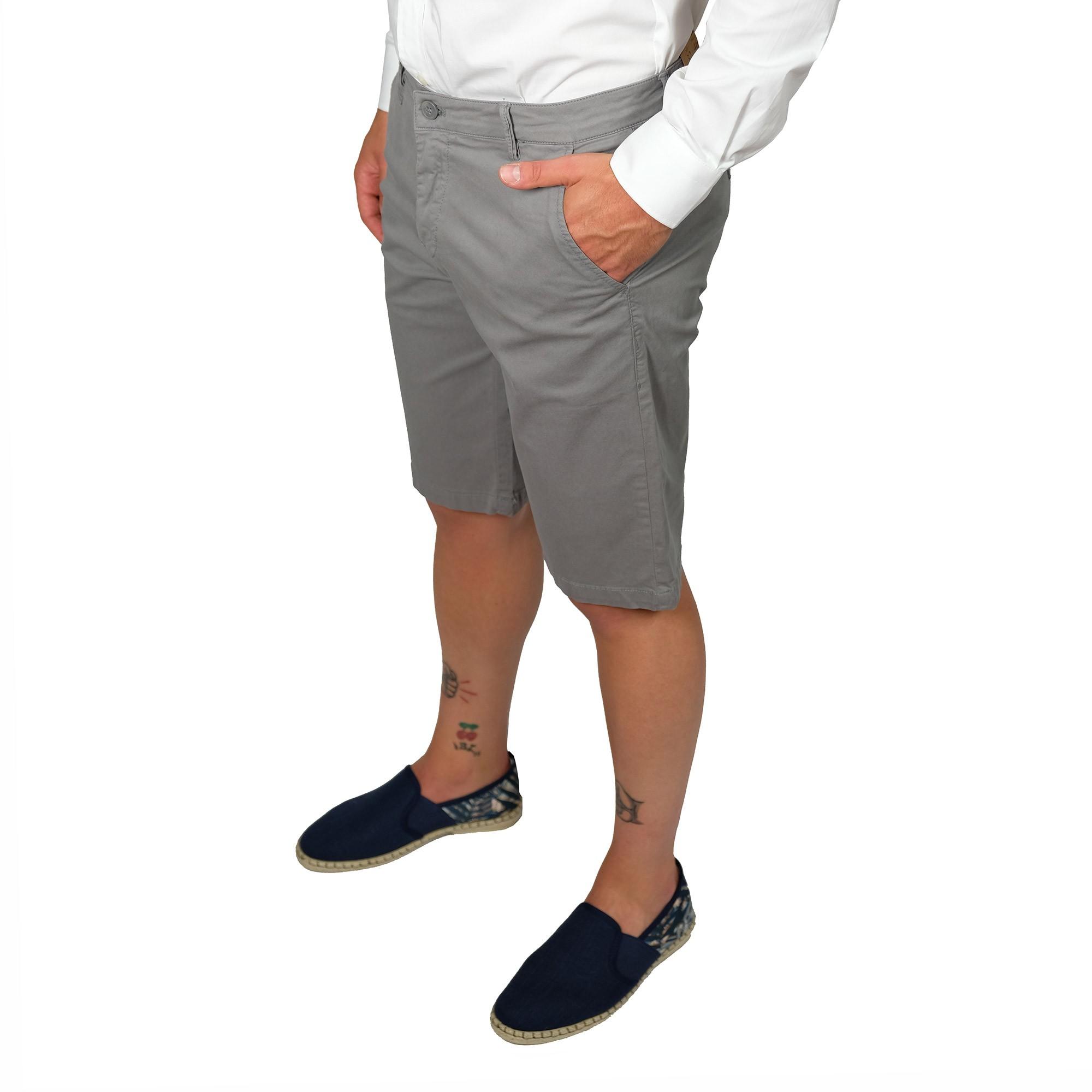 Bermuda-Uomo-Cotone-Jeans-Pantaloncini-Pantaloni-Corti-Tasca-America-Slim-Shorts miniatura 3