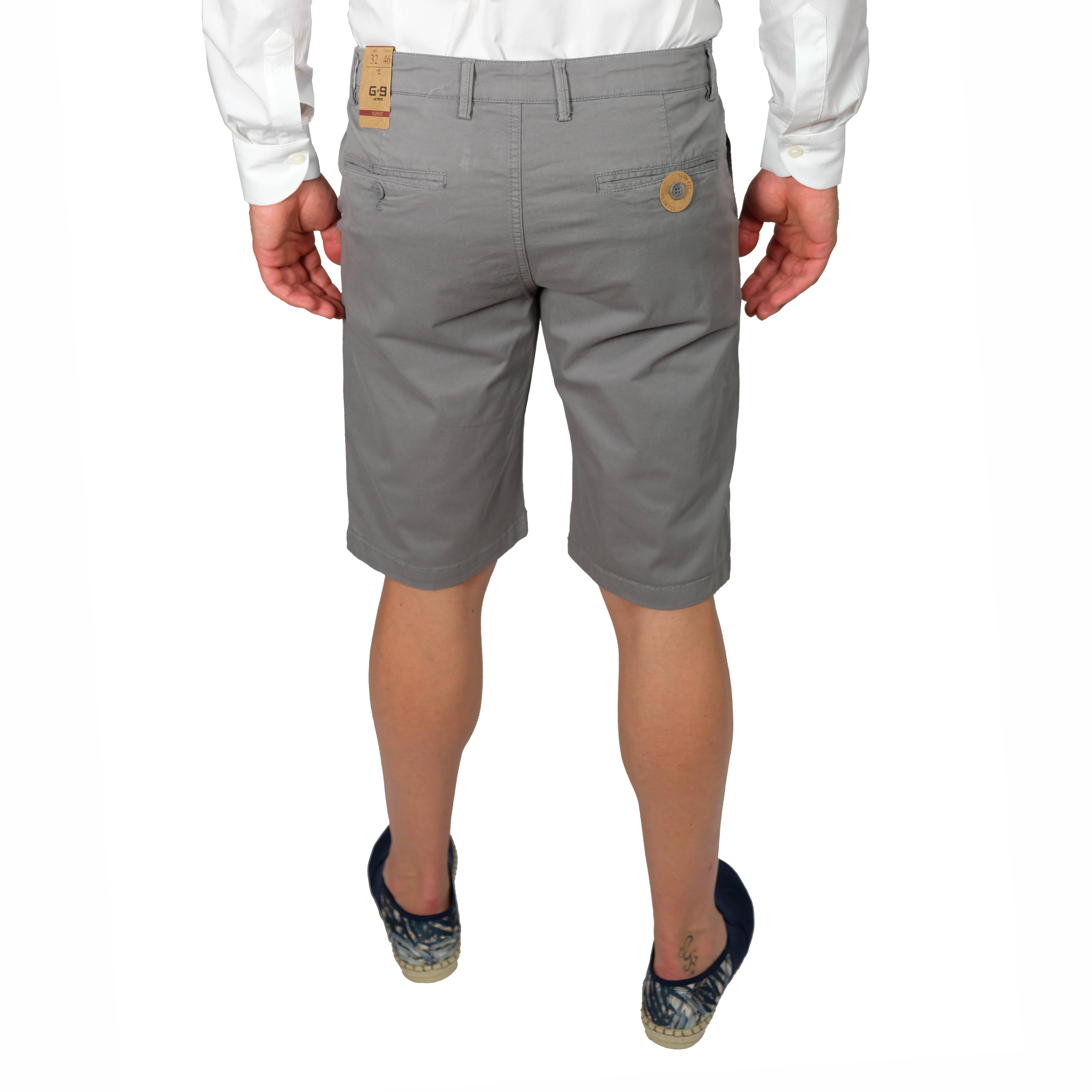 Bermuda-Uomo-Cotone-Jeans-Pantaloncini-Pantaloni-Corti-Tasca-America-Slim-Shorts miniatura 4