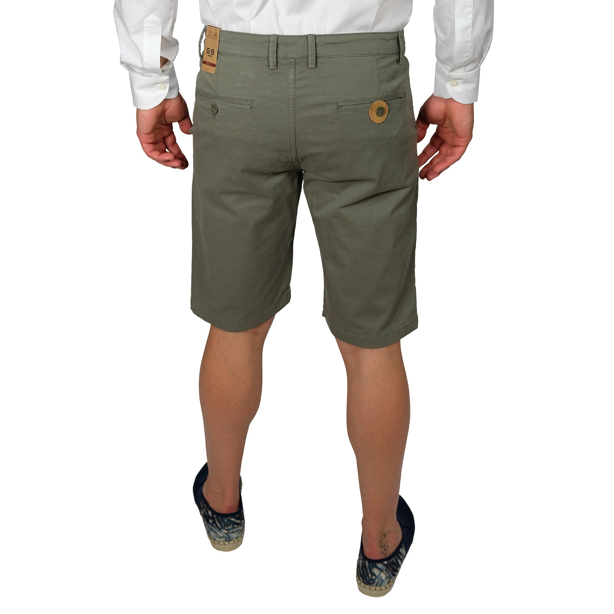 Bermuda-Uomo-Cotone-Jeans-Pantaloncini-Pantaloni-Corti-Tasca-America-Slim-Shorts miniatura 10