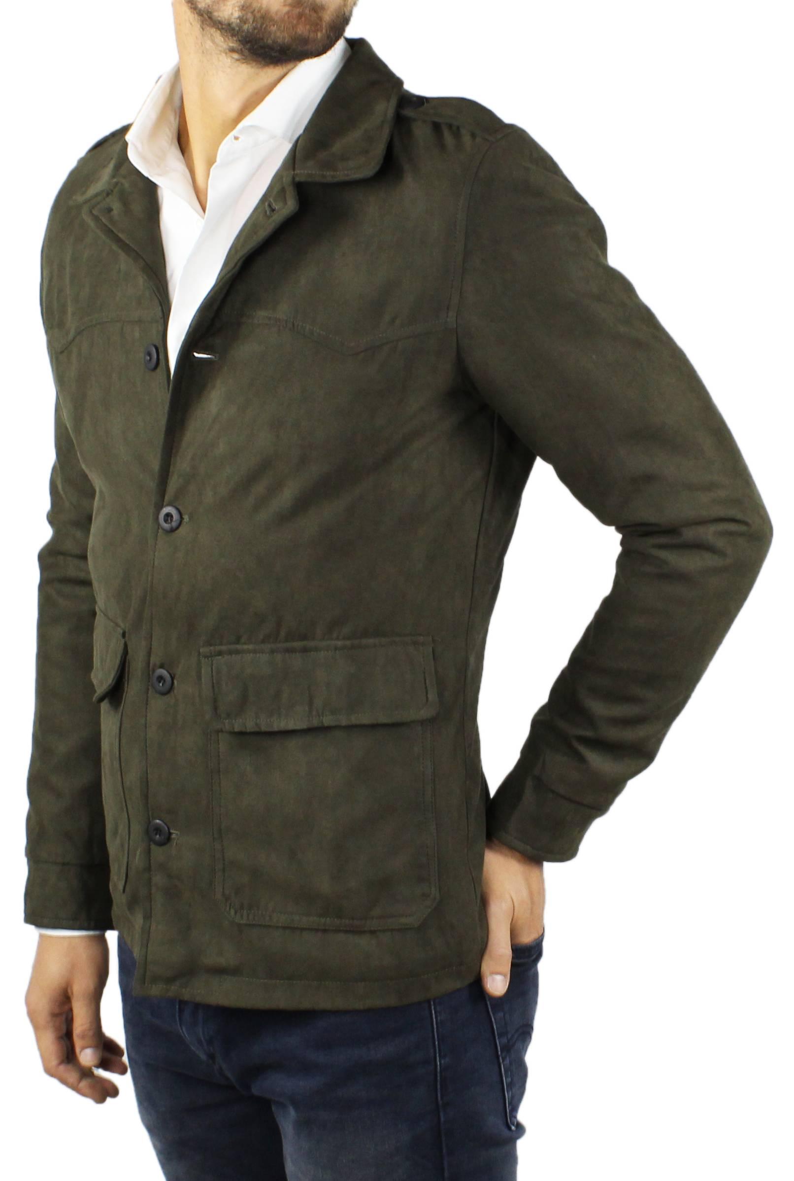 Cappotto-Uomo-Scamosciato-Invernale-Elegante-Giubbotto-Giacca-Trench-Casual miniatura 13