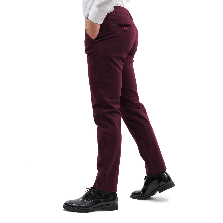 Pantalone-Uomo-Invernale-Chino-Slim-Fit-Pantaloni-Tasca-America-Elegante-Classic miniatura 17