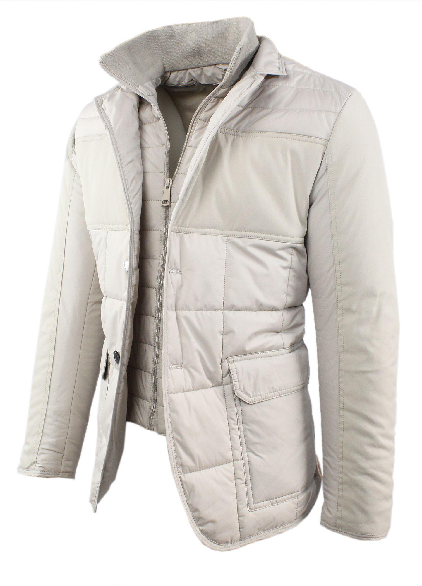 Giubbotto-Uomo-Invernale-Slim-Fit-Blu-Nero-Giacca-Elegante-Trapuntata-Cappotto miniatura 15