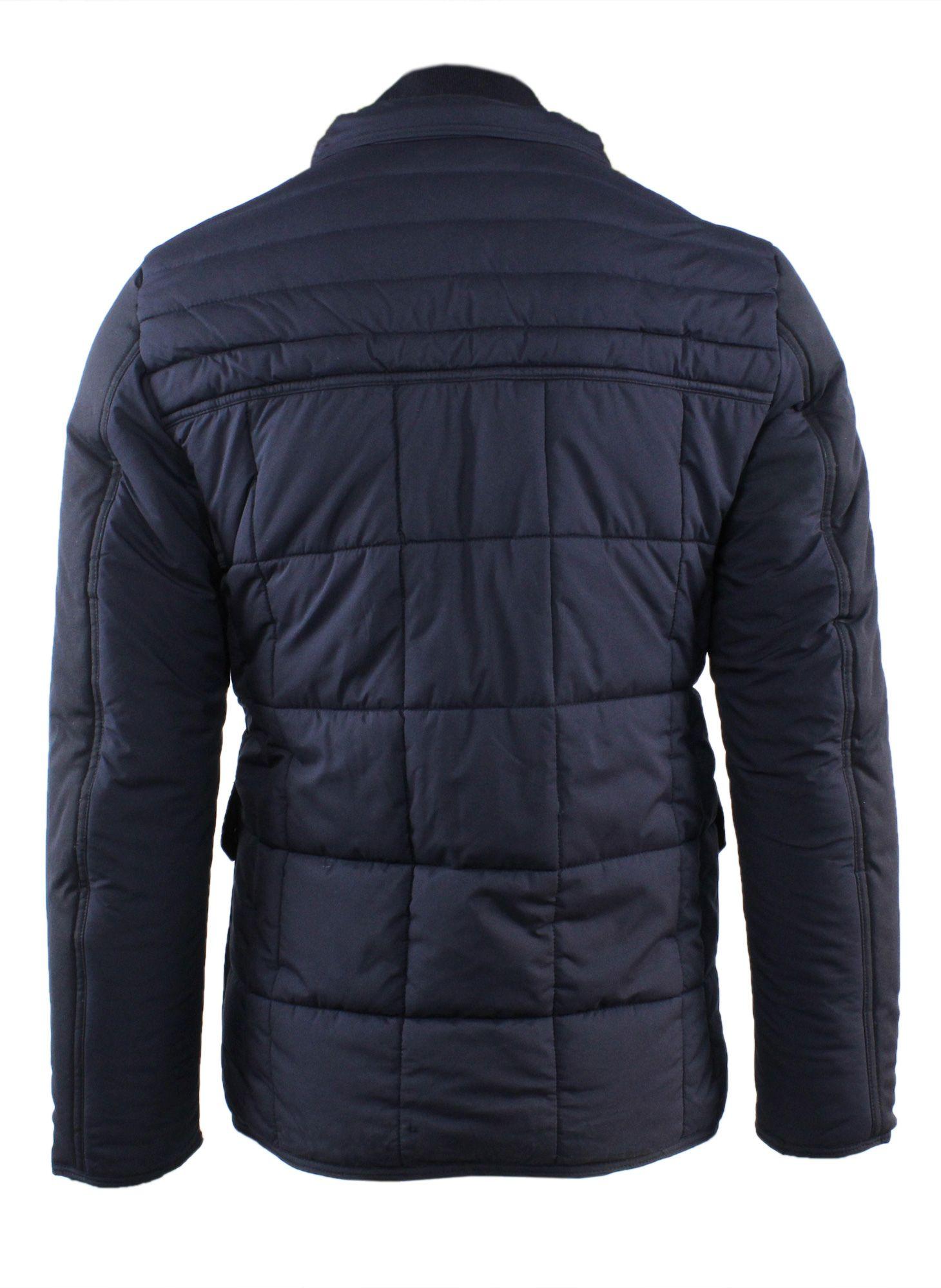 Giubbotto-Uomo-Invernale-Slim-Fit-Blu-Nero-Giacca-Elegante-Trapuntata-Cappotto miniatura 7
