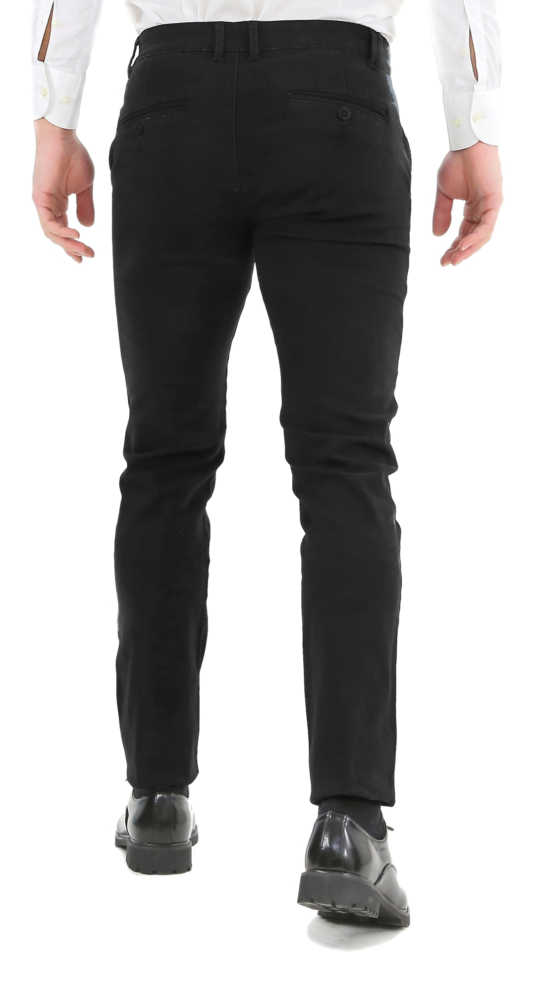 Pantaloni-Uomo-Slim-Fit-Eleganti-Invernali-Blu-Nero-Classico-Chino-Tasca-America miniatura 13