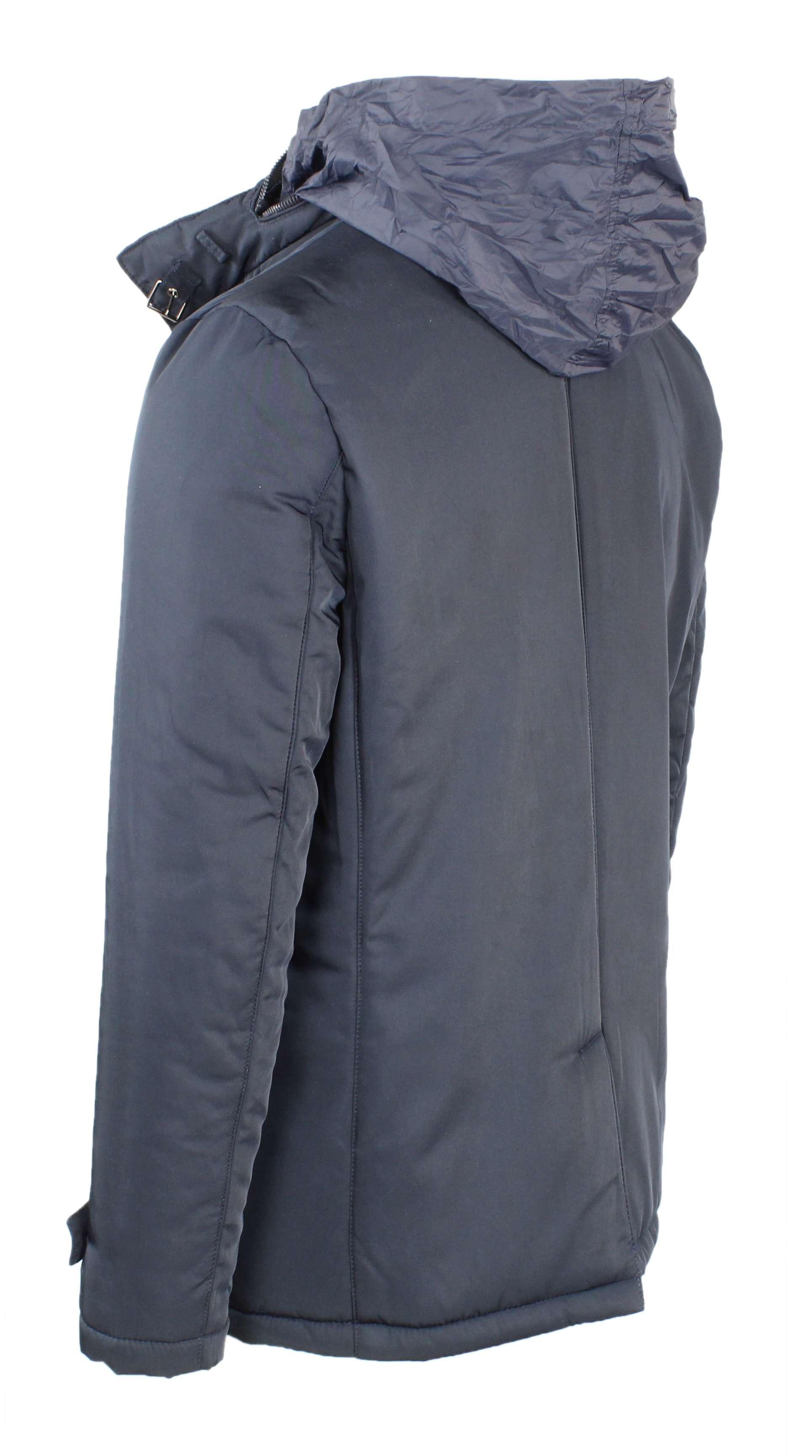 Giubbotto-Uomo-Invernale-Giaccone-Elegante-Giubbino-Sartoriale-Blu-Nero-Cappotto miniatura 7