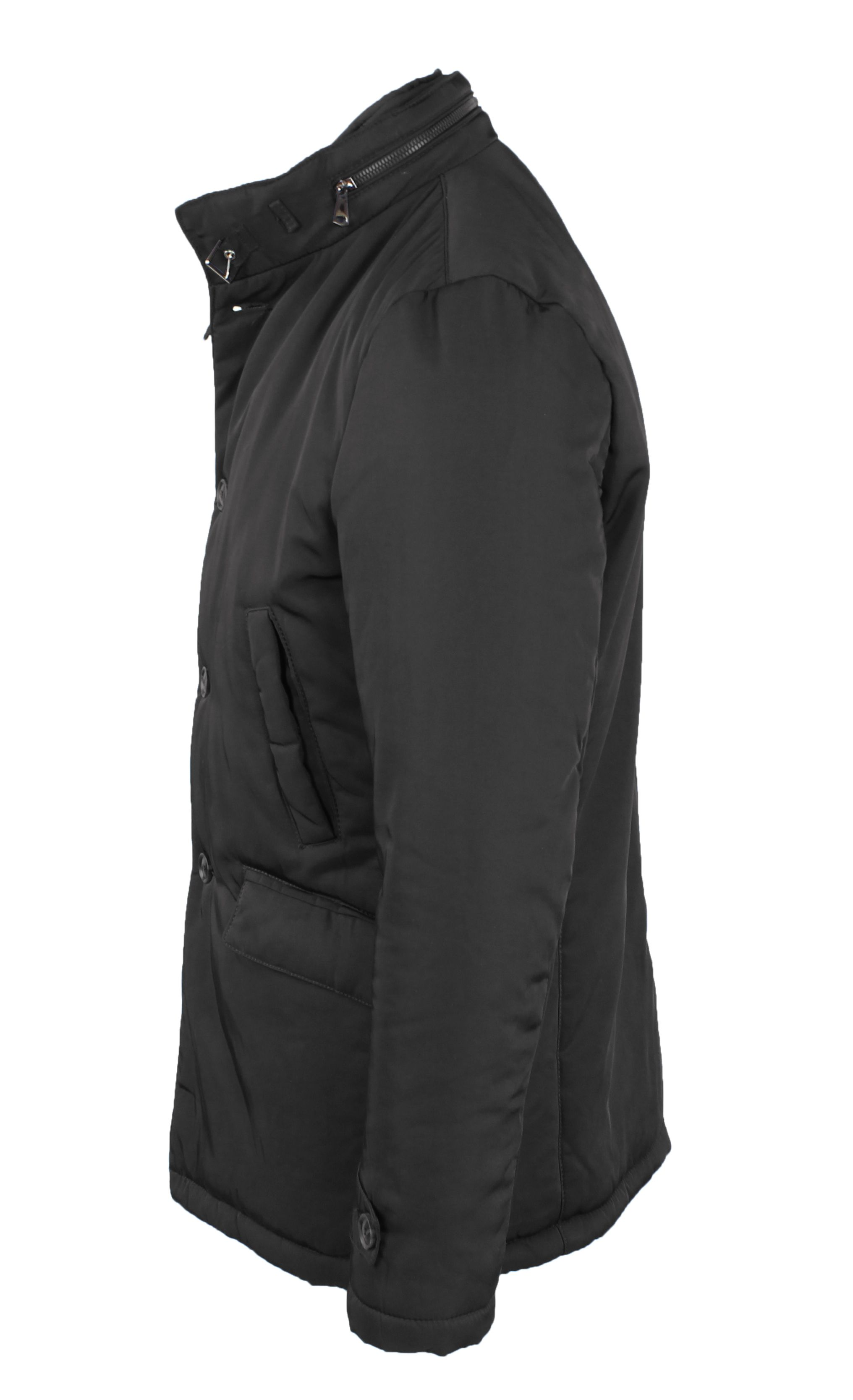 Giubbotto-Uomo-Invernale-Giaccone-Elegante-Giubbino-Sartoriale-Blu-Nero-Cappotto miniatura 11