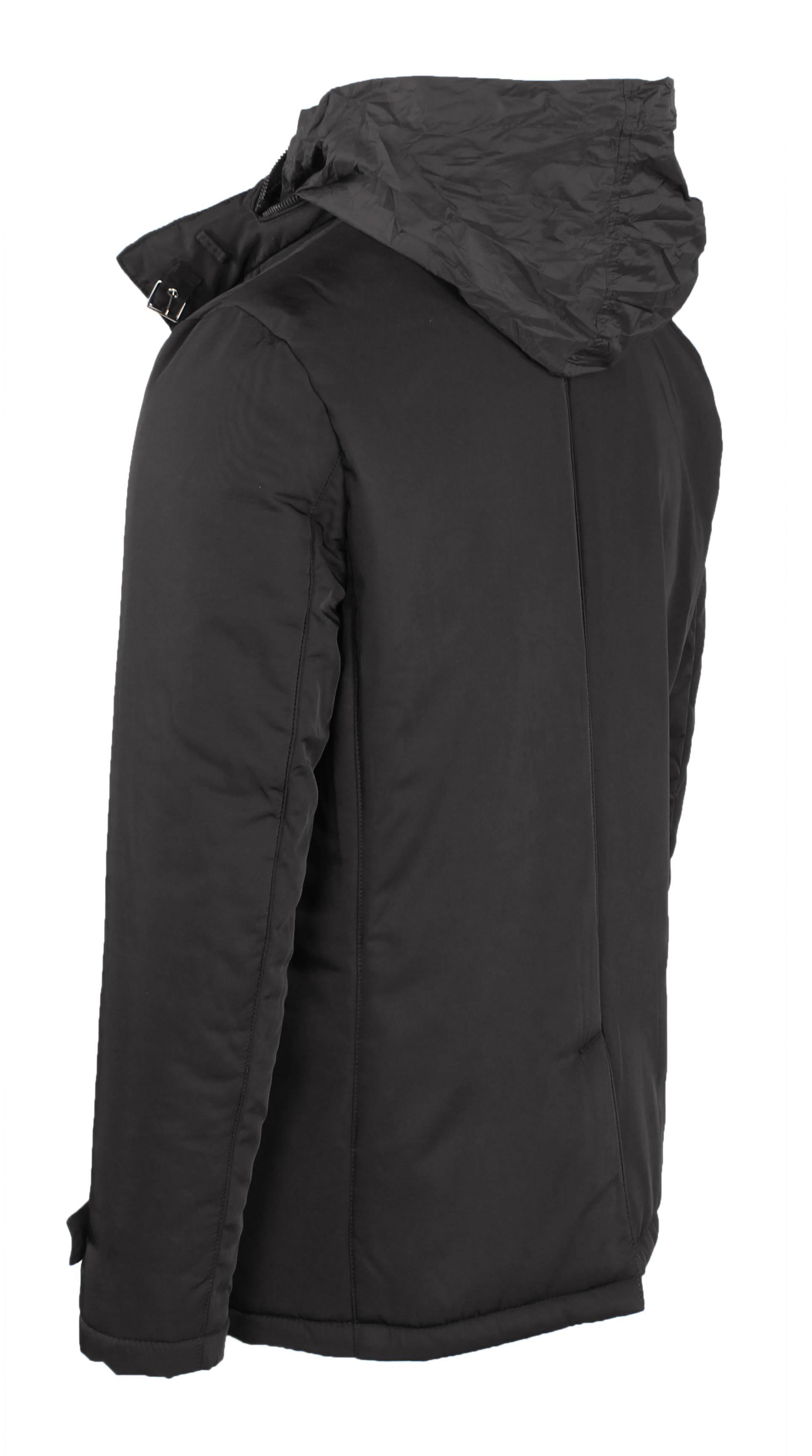 Giubbotto-Uomo-Invernale-Giaccone-Elegante-Giubbino-Sartoriale-Blu-Nero-Cappotto miniatura 12