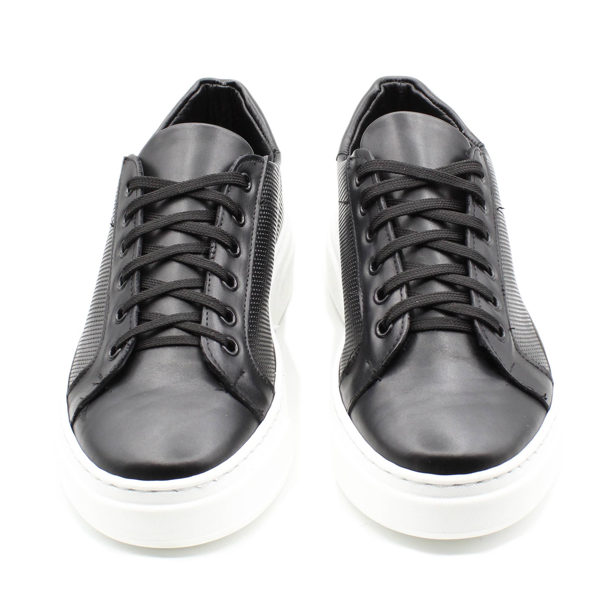 miniatura 8 - Sneakers-Uomo-in-Pelle-Basse-Nere-Blu-Scarpe-da-Ginnastica-Sportive-Eleganti