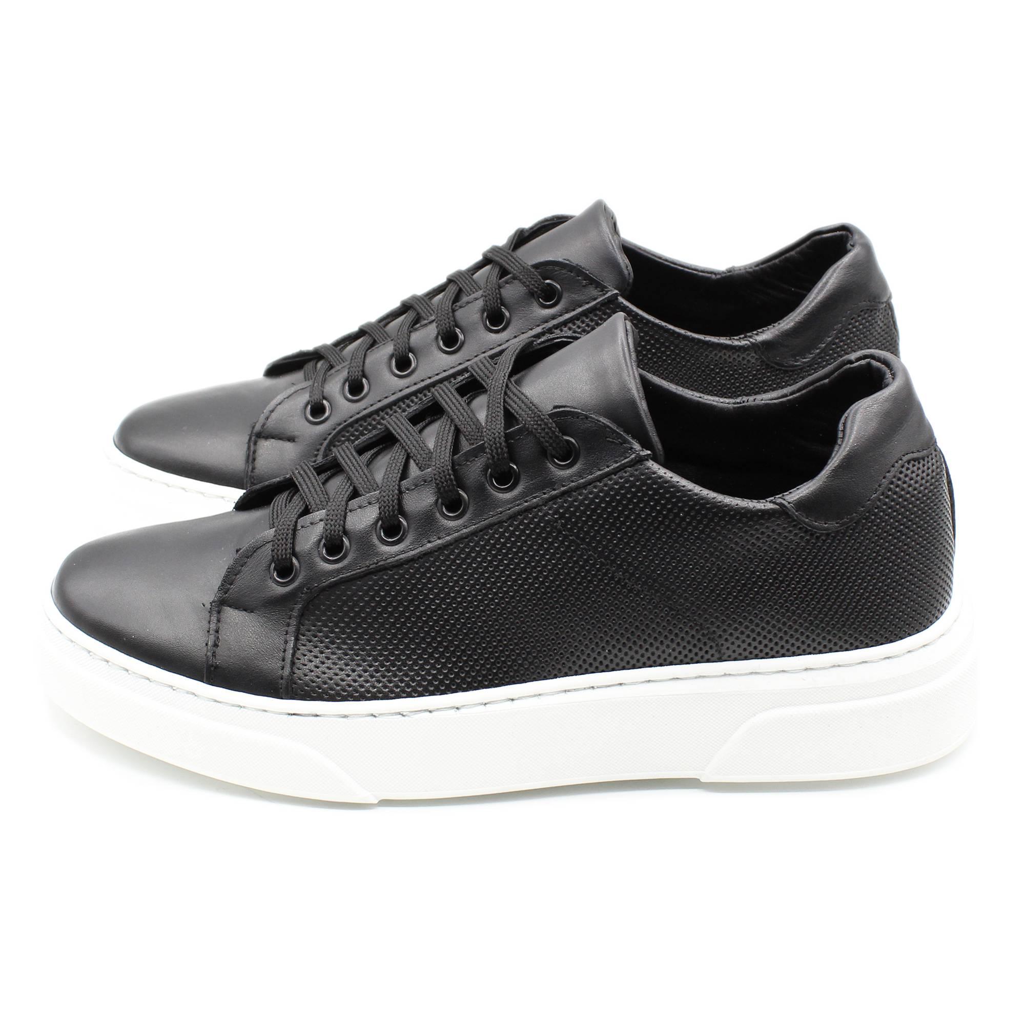 miniatura 9 - Sneakers-Uomo-in-Pelle-Basse-Nere-Blu-Scarpe-da-Ginnastica-Sportive-Eleganti