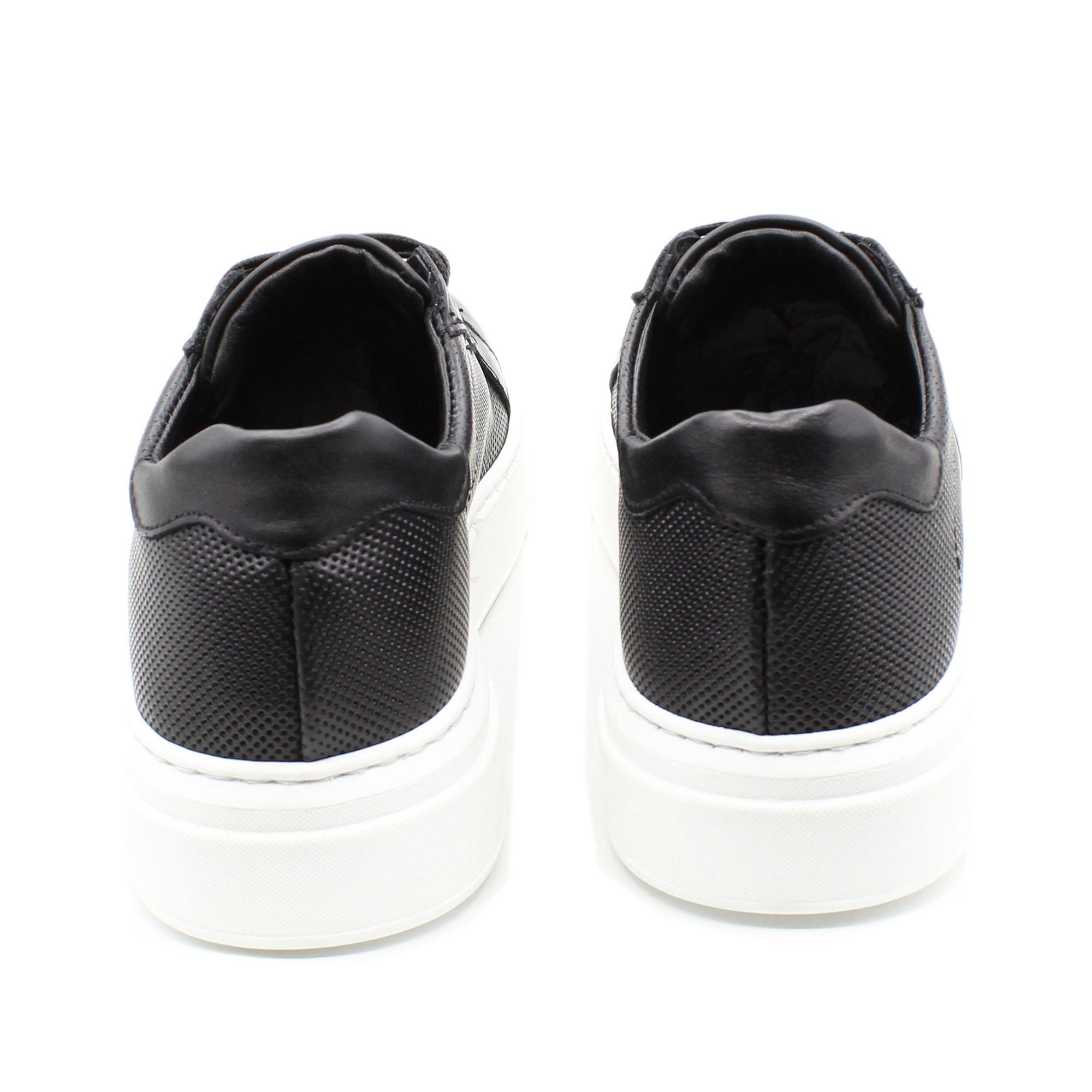 miniatura 10 - Sneakers-Uomo-in-Pelle-Basse-Nere-Blu-Scarpe-da-Ginnastica-Sportive-Eleganti