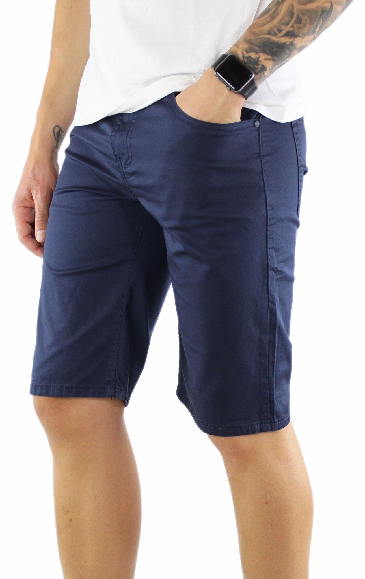 Bermuda-Uomo-Cotone-Slim-Fit-Pantalone-Corto-Shorts-Pantaloncini-Casual miniatuur 12