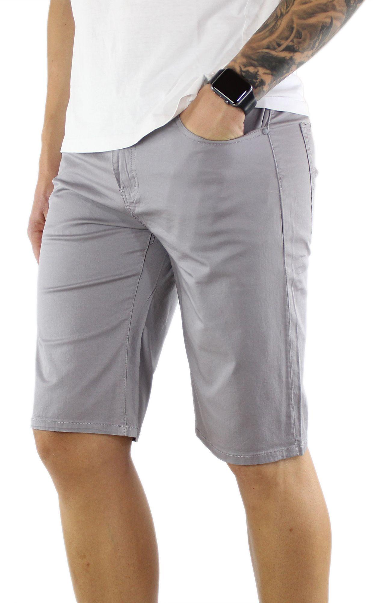 Bermuda-Uomo-Cotone-Slim-Fit-Pantalone-Corto-Shorts-Pantaloncini-Casual miniatuur 6