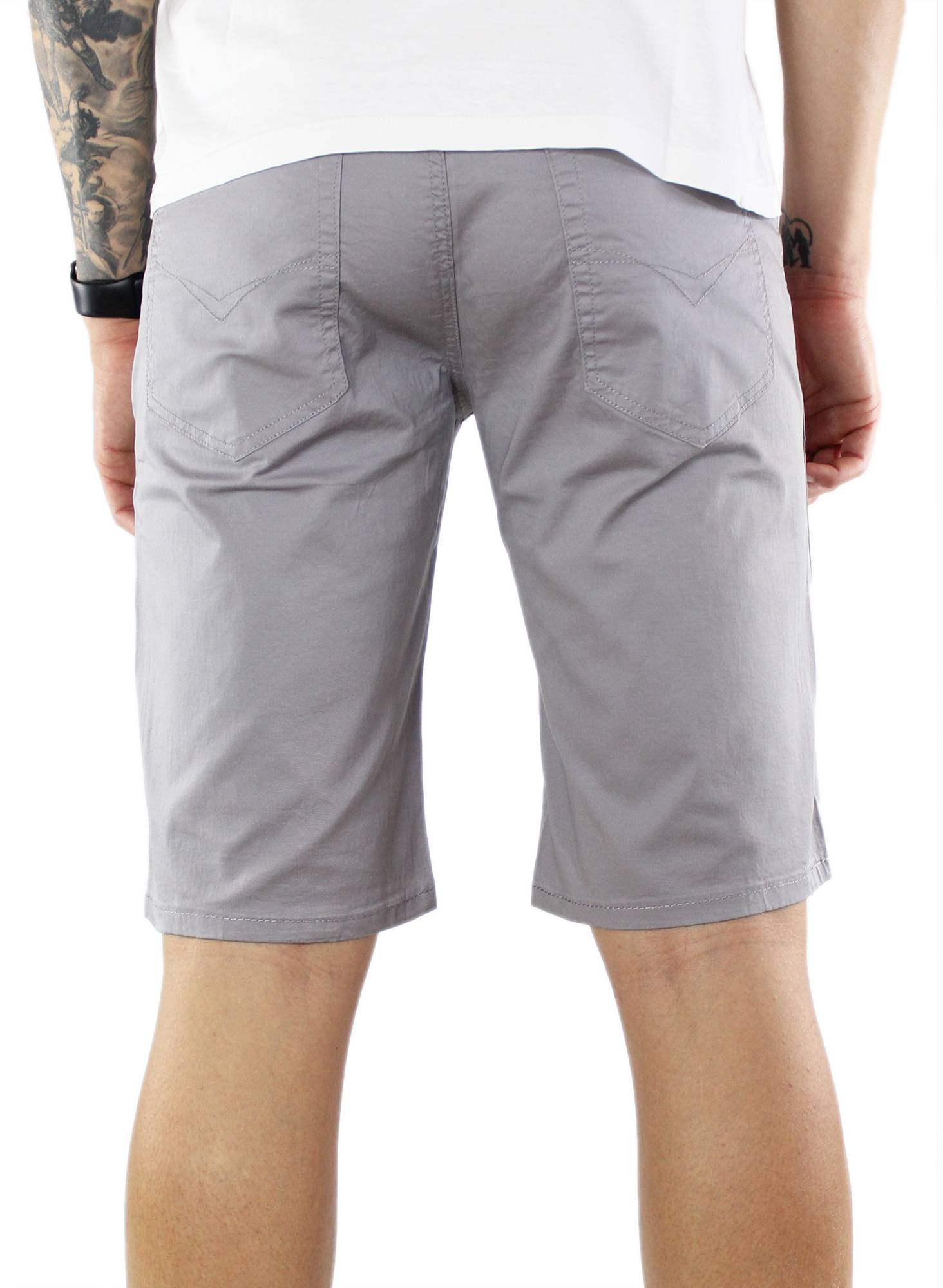 Bermuda-Uomo-Cotone-Slim-Fit-Pantalone-Corto-Shorts-Pantaloncini-Casual miniatuur 7
