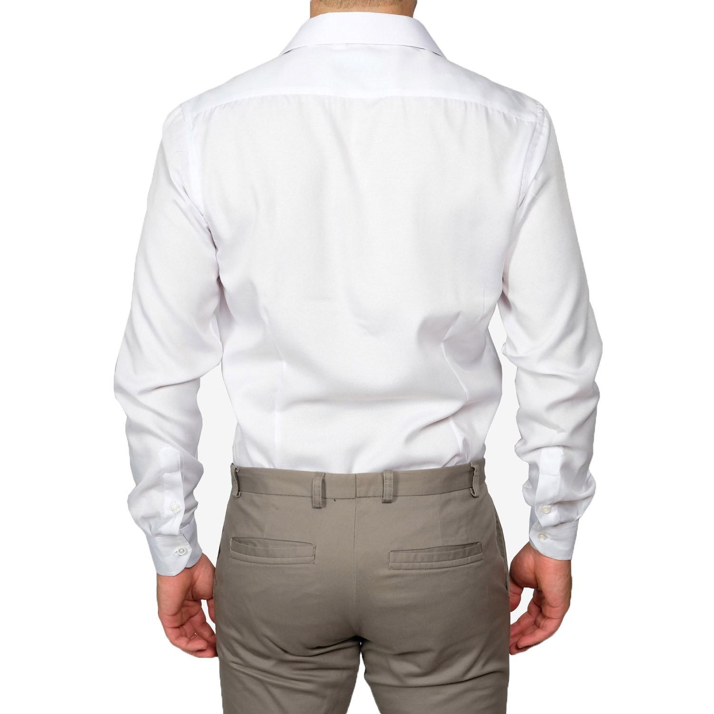 Camicia-Uomo-Slim-Fit-Cotone-Elegante-Manica-Lunga-Sartoriale-S-M-L-XL-XXL miniatura 16
