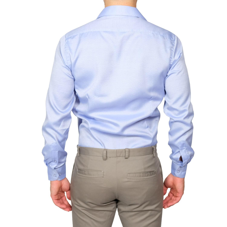 Camicia-Uomo-Slim-Fit-Cotone-Elegante-Manica-Lunga-Sartoriale-S-M-L-XL-XXL miniatura 13