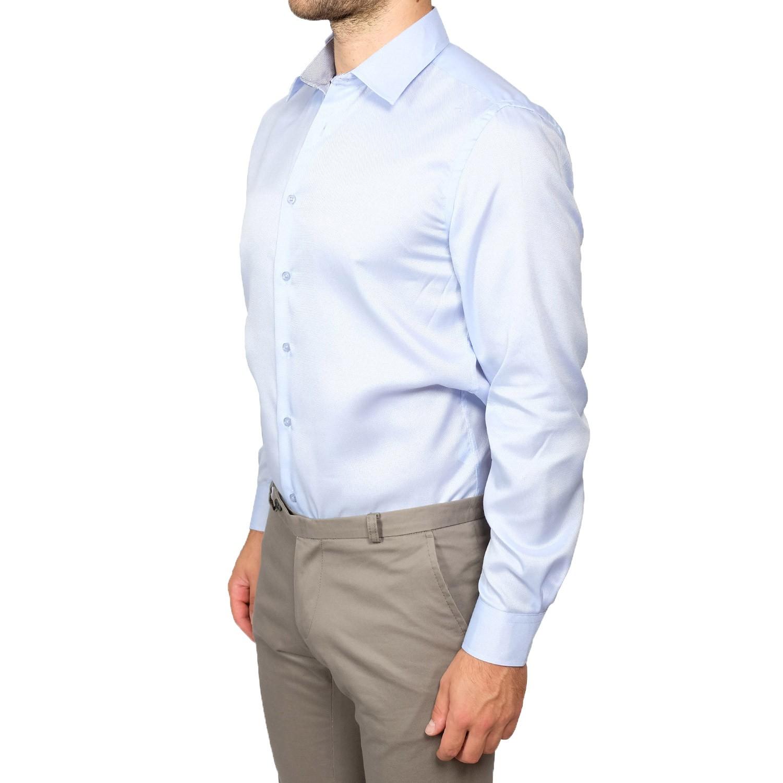 Camicia-Uomo-Slim-Fit-Cotone-Elegante-Manica-Lunga-Sartoriale-S-M-L-XL-XXL miniatura 18