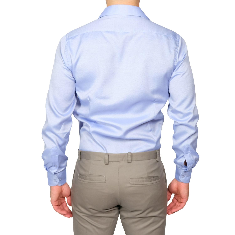 Camicia-Uomo-Slim-Fit-Cotone-Elegante-Manica-Lunga-Sartoriale-S-M-L-XL-XXL miniatura 19