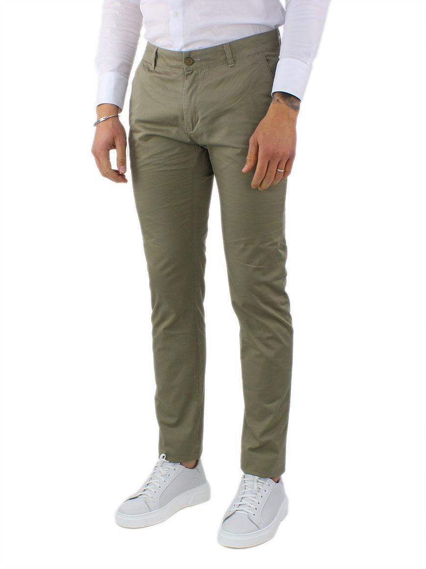 miniature 18 - Pantaloni Uomo Slim Fit Eleganti Primaverili Cotone Pantalone Chino Elasticizzat