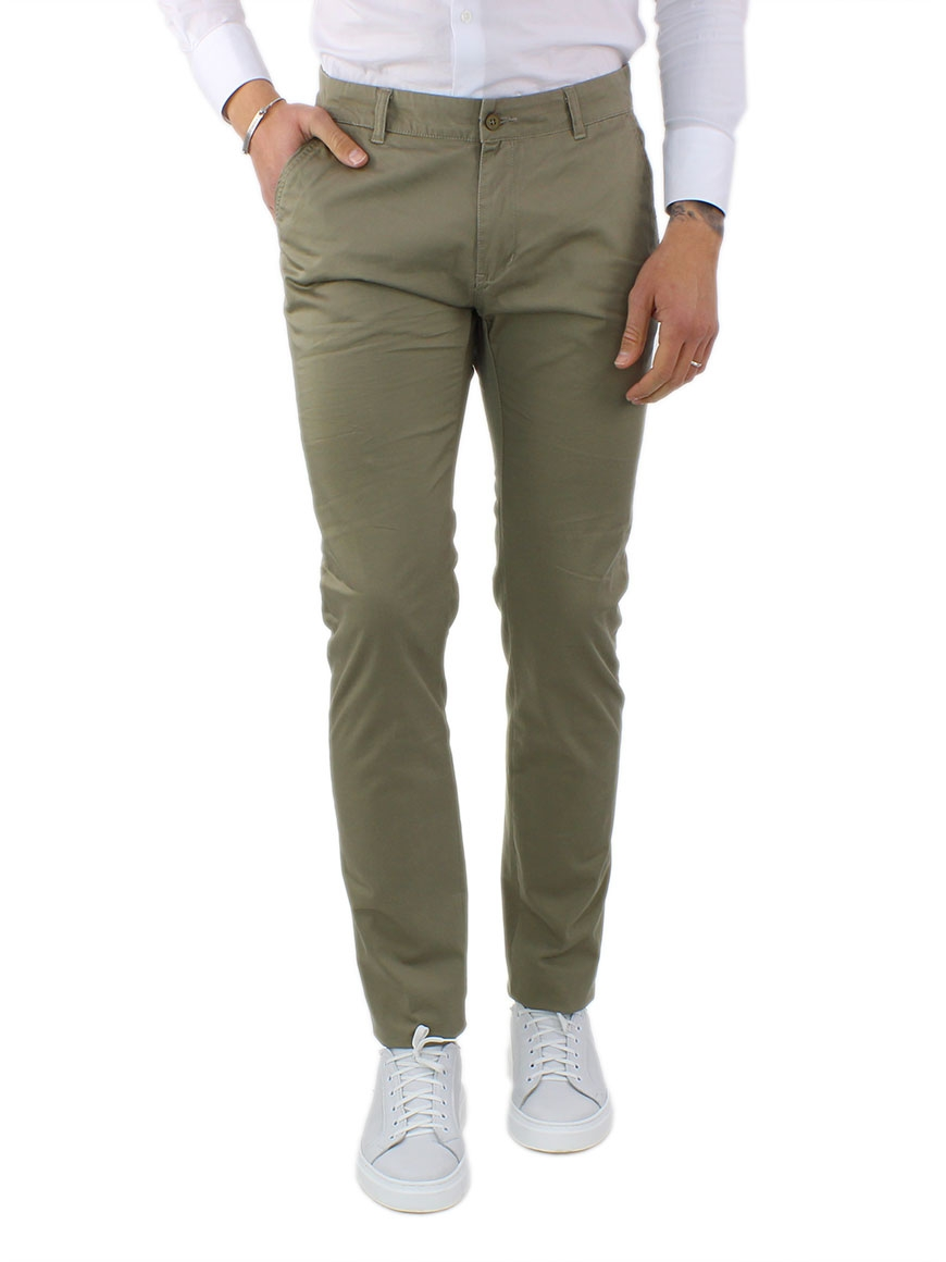 miniature 19 - Pantaloni Uomo Slim Fit Eleganti Primaverili Cotone Pantalone Chino Elasticizzat