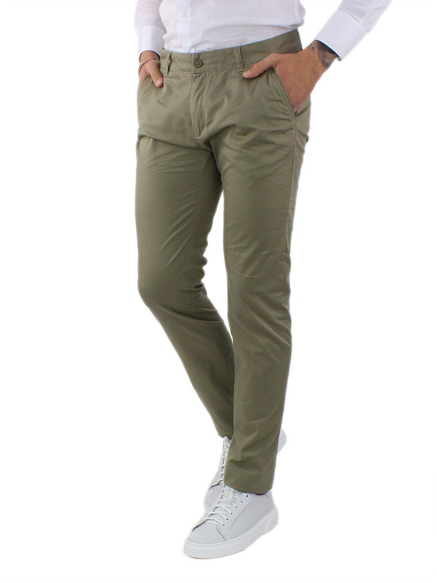 miniature 20 - Pantaloni Uomo Slim Fit Eleganti Primaverili Cotone Pantalone Chino Elasticizzat