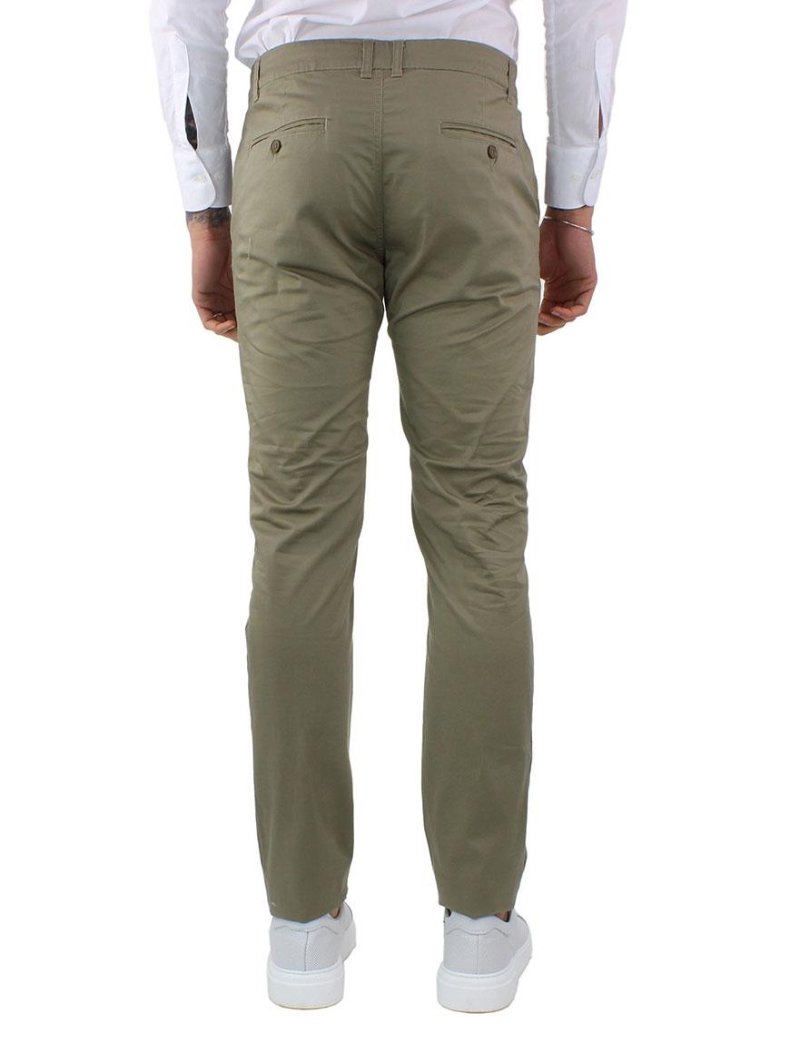 miniature 21 - Pantaloni Uomo Slim Fit Eleganti Primaverili Cotone Pantalone Chino Elasticizzat