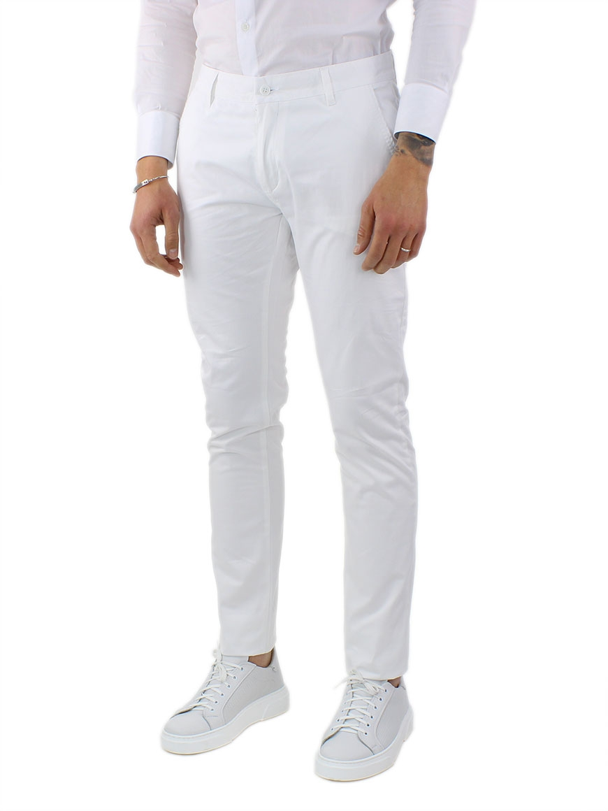 miniature 13 - Pantaloni Uomo Slim Fit Eleganti Primaverili Cotone Pantalone Chino Elasticizzat
