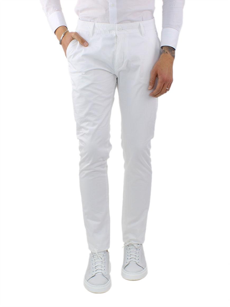 miniature 14 - Pantaloni Uomo Slim Fit Eleganti Primaverili Cotone Pantalone Chino Elasticizzat