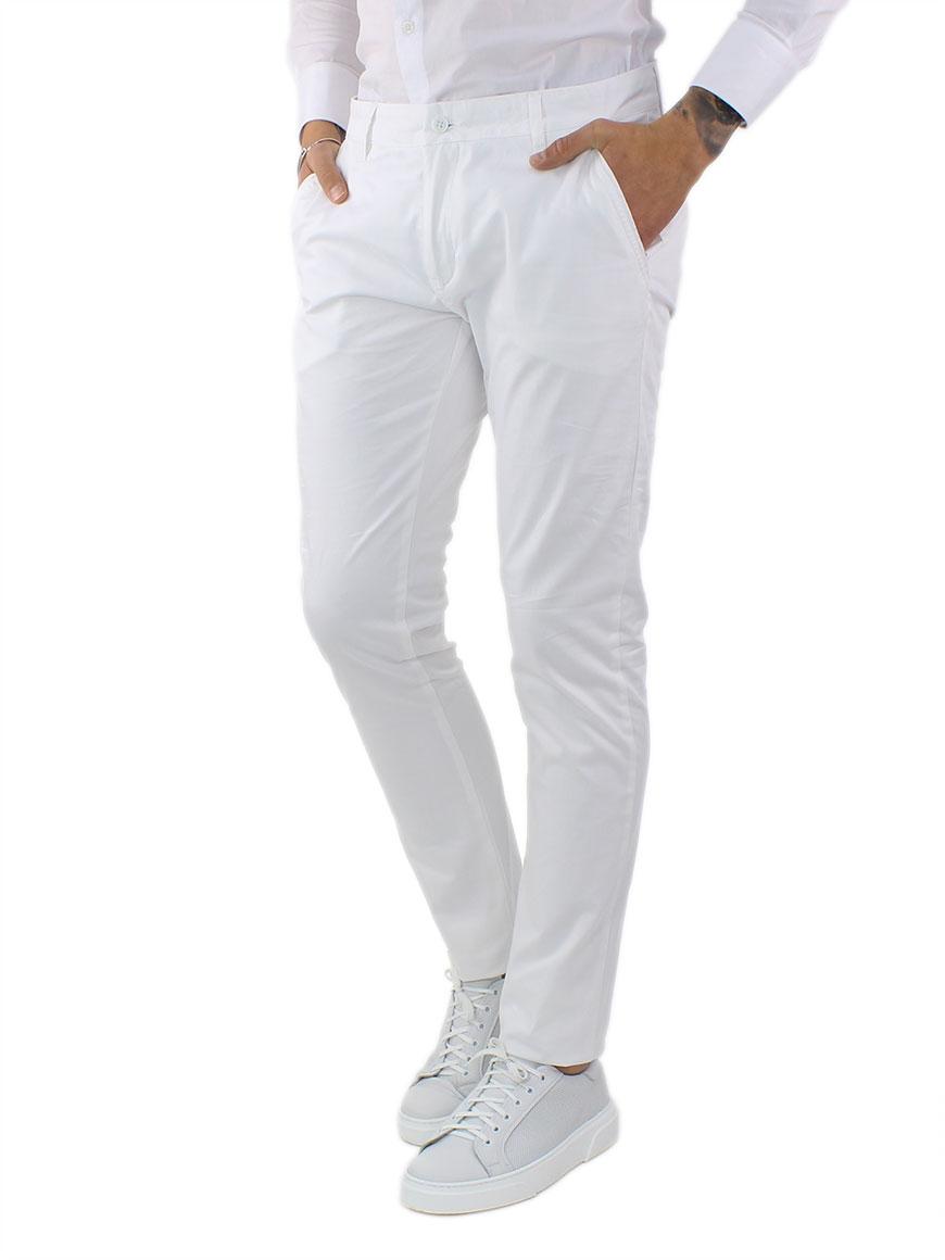 miniature 15 - Pantaloni Uomo Slim Fit Eleganti Primaverili Cotone Pantalone Chino Elasticizzat