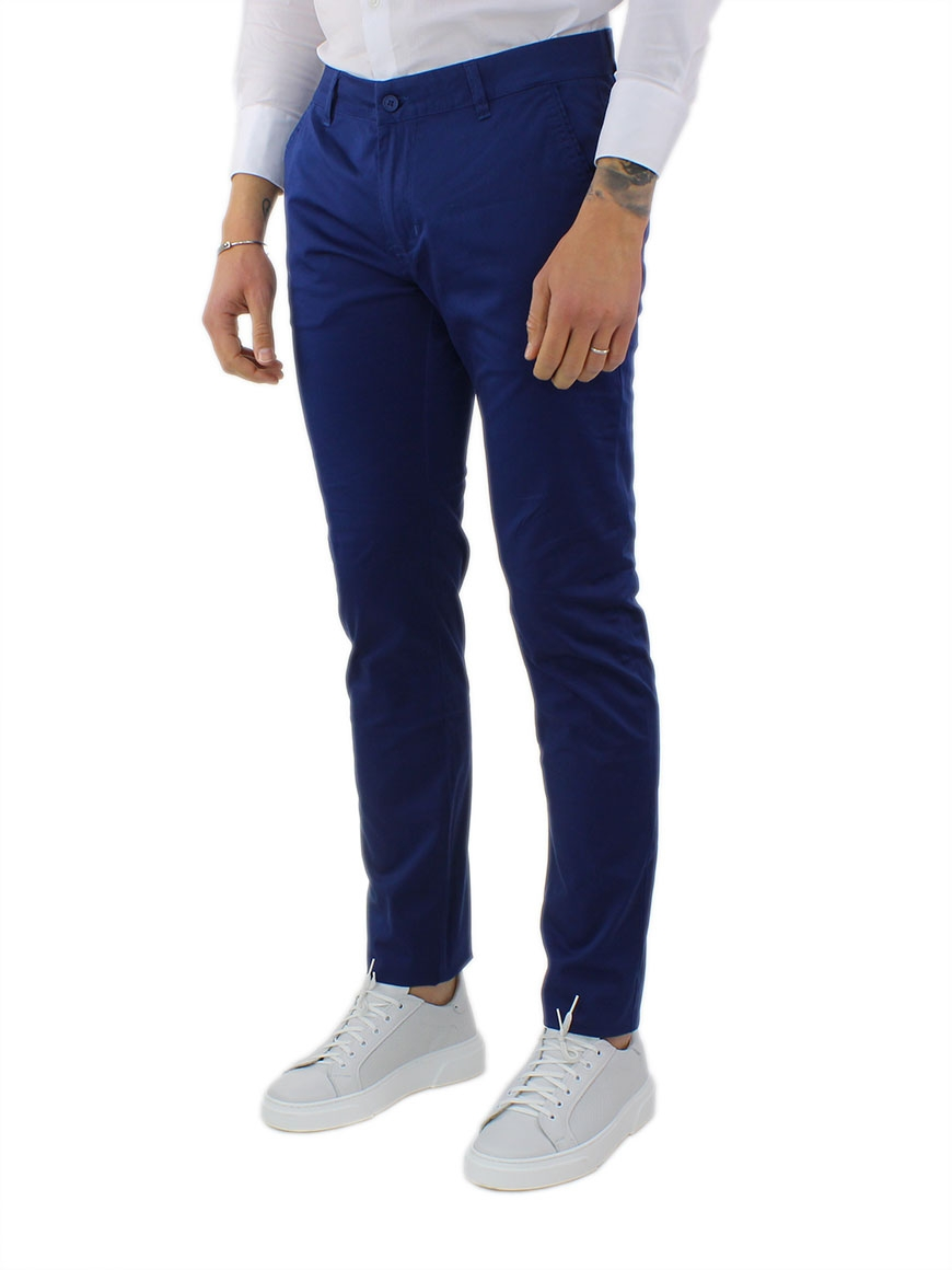 miniature 23 - Pantaloni Uomo Slim Fit Eleganti Primaverili Cotone Pantalone Chino Elasticizzat