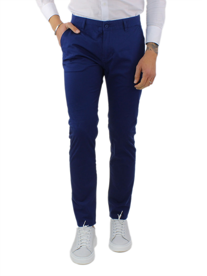 miniature 24 - Pantaloni Uomo Slim Fit Eleganti Primaverili Cotone Pantalone Chino Elasticizzat