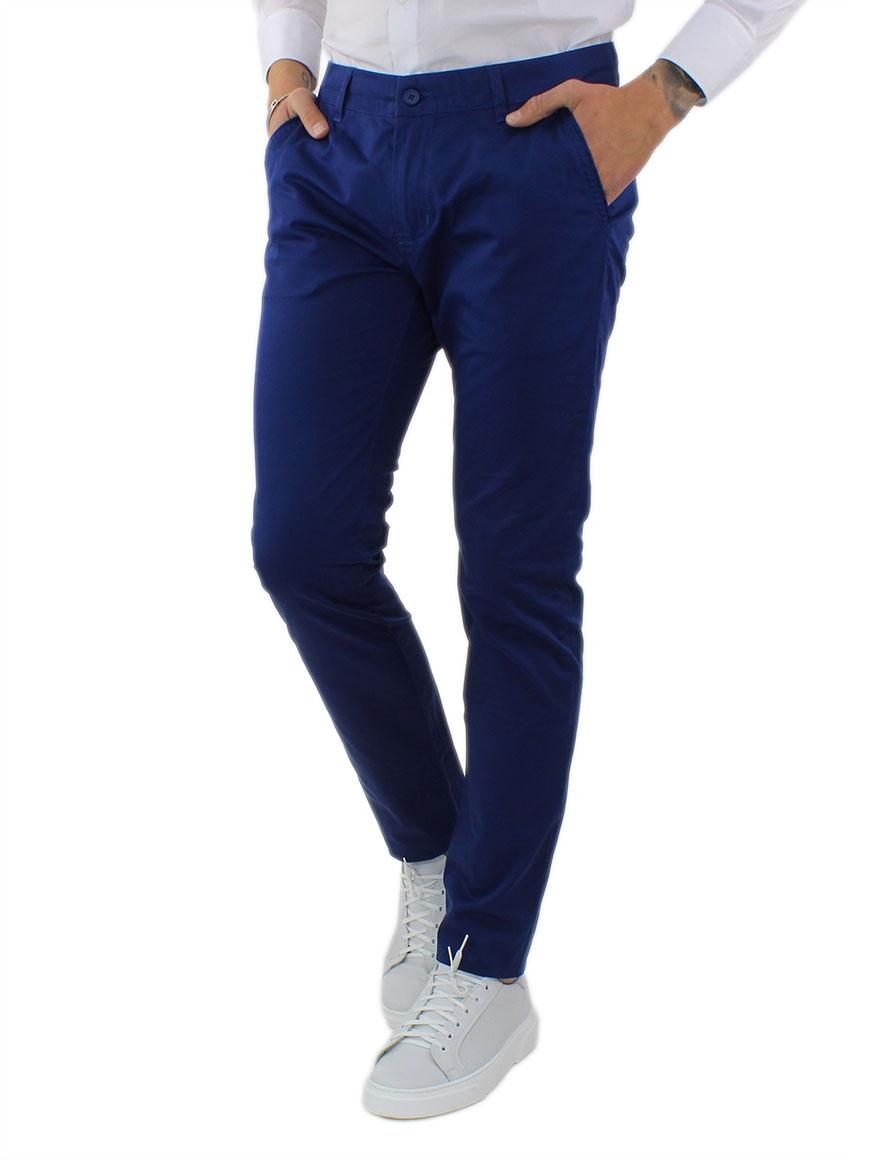 miniature 25 - Pantaloni Uomo Slim Fit Eleganti Primaverili Cotone Pantalone Chino Elasticizzat