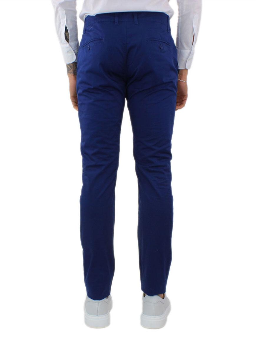 miniature 26 - Pantaloni Uomo Slim Fit Eleganti Primaverili Cotone Pantalone Chino Elasticizzat