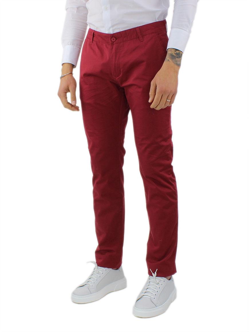 miniature 33 - Pantaloni Uomo Slim Fit Eleganti Primaverili Cotone Pantalone Chino Elasticizzat