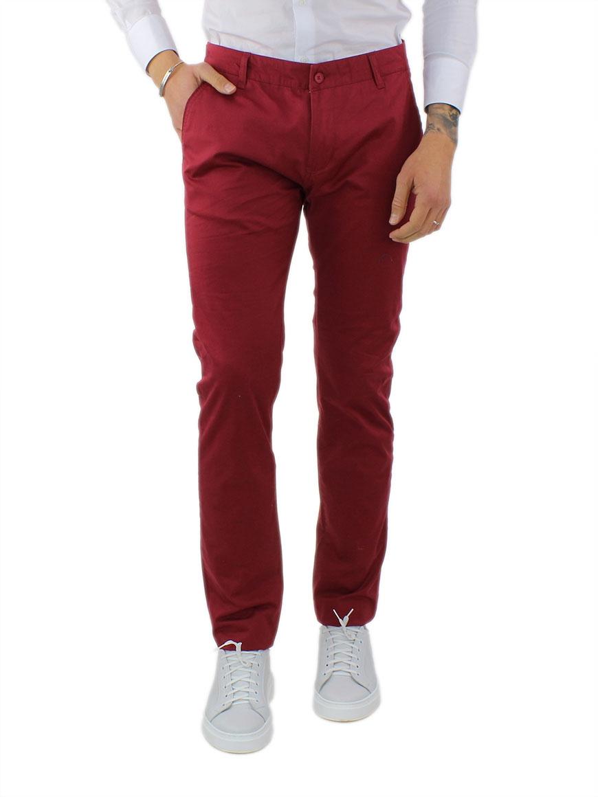 miniature 34 - Pantaloni Uomo Slim Fit Eleganti Primaverili Cotone Pantalone Chino Elasticizzat