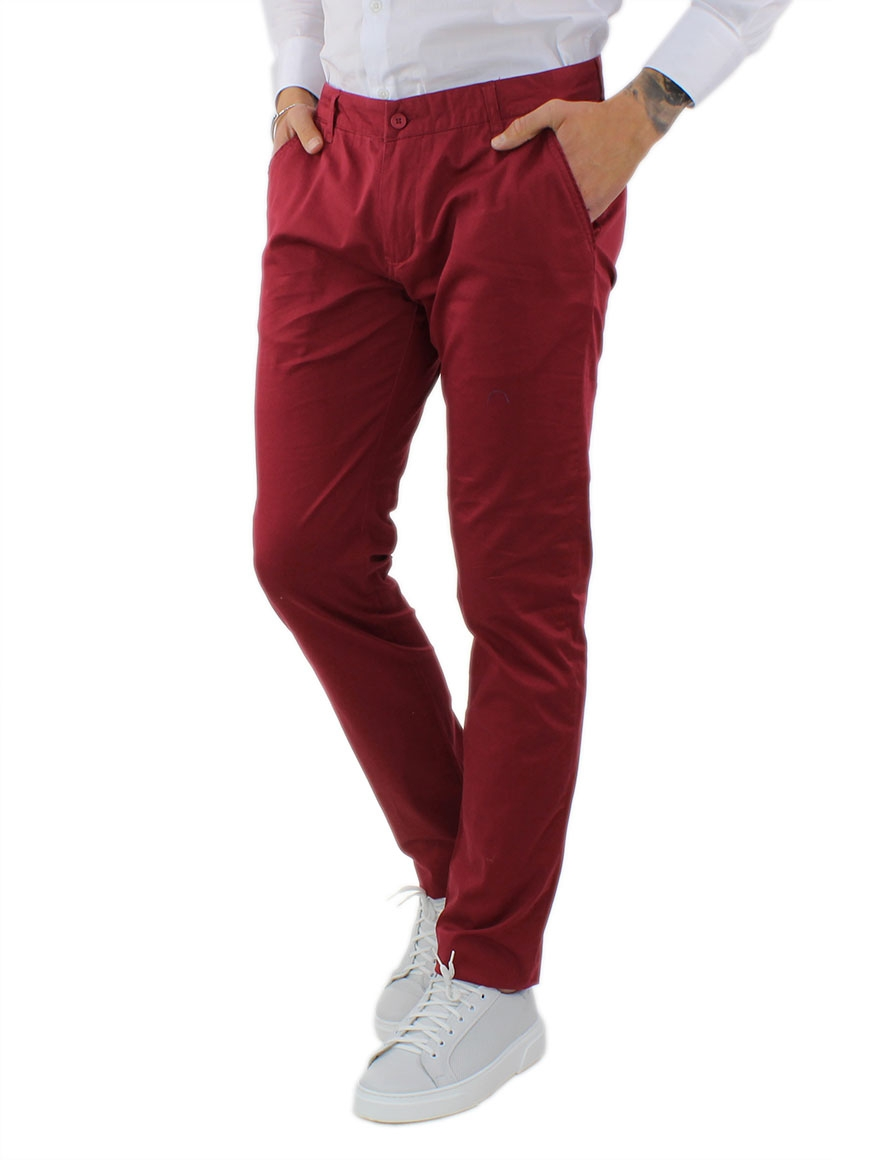 miniature 35 - Pantaloni Uomo Slim Fit Eleganti Primaverili Cotone Pantalone Chino Elasticizzat