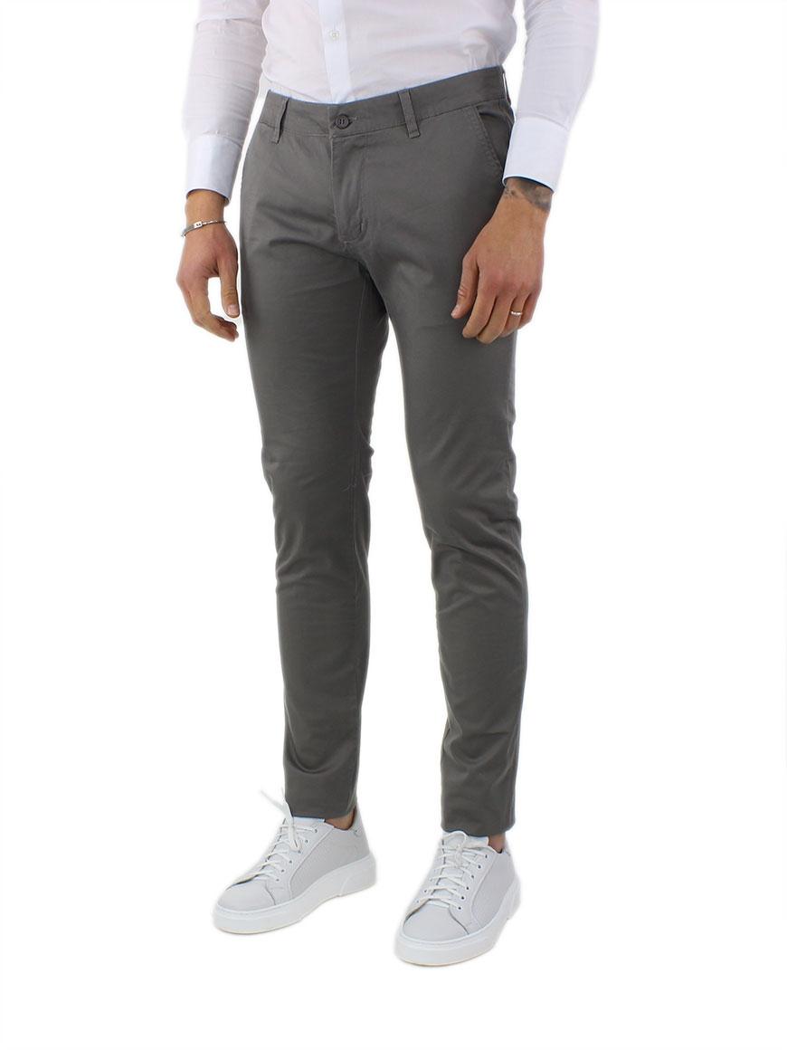 miniature 3 - Pantaloni Uomo Slim Fit Eleganti Primaverili Cotone Pantalone Chino Elasticizzat