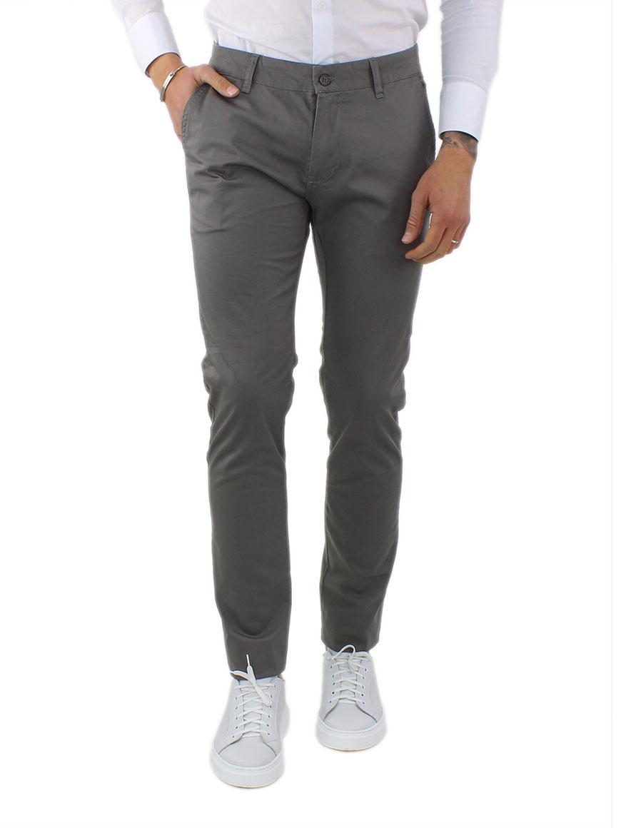 miniature 4 - Pantaloni Uomo Slim Fit Eleganti Primaverili Cotone Pantalone Chino Elasticizzat