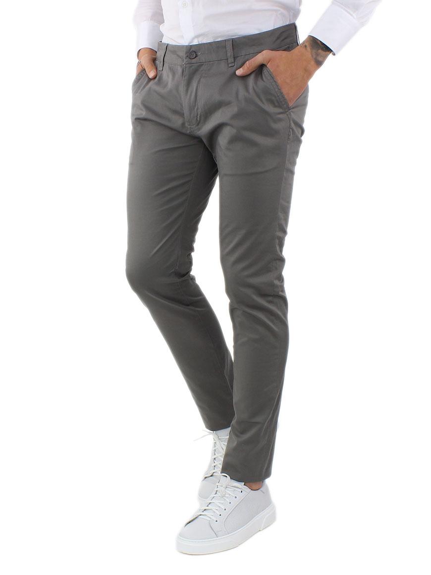 miniature 5 - Pantaloni Uomo Slim Fit Eleganti Primaverili Cotone Pantalone Chino Elasticizzat