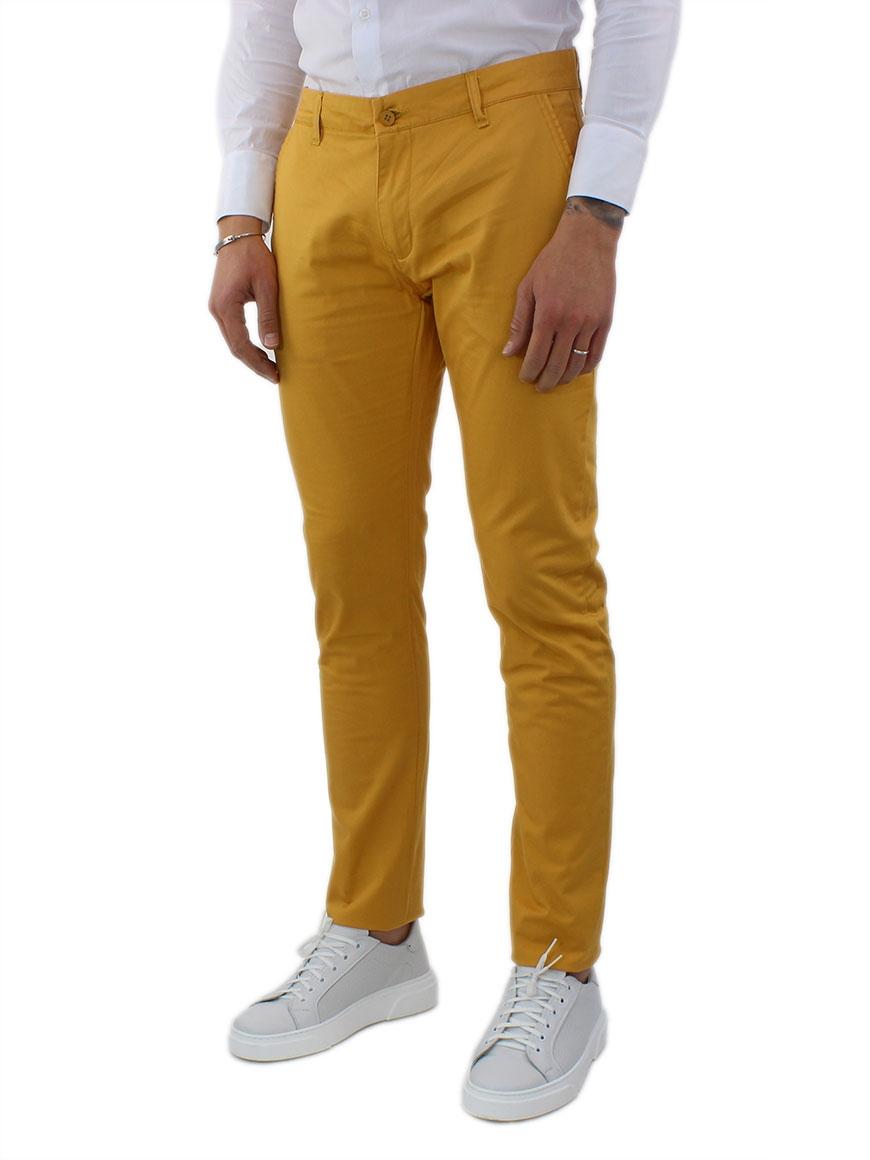 miniature 28 - Pantaloni Uomo Slim Fit Eleganti Primaverili Cotone Pantalone Chino Elasticizzat