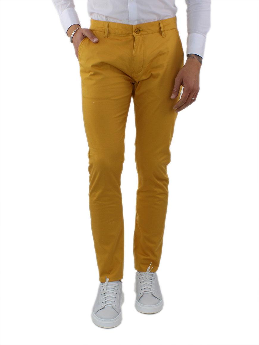 miniature 29 - Pantaloni Uomo Slim Fit Eleganti Primaverili Cotone Pantalone Chino Elasticizzat