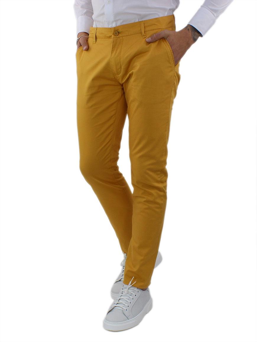 miniature 30 - Pantaloni Uomo Slim Fit Eleganti Primaverili Cotone Pantalone Chino Elasticizzat