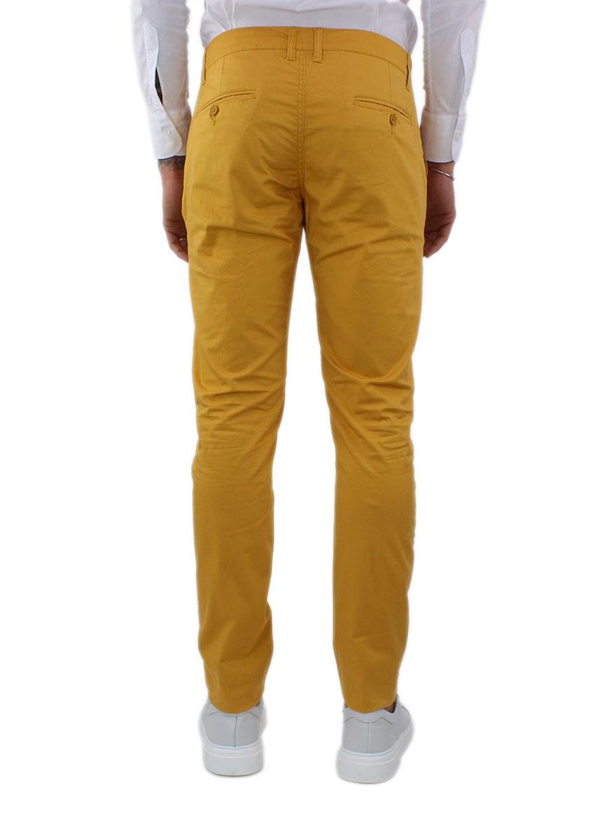 miniature 31 - Pantaloni Uomo Slim Fit Eleganti Primaverili Cotone Pantalone Chino Elasticizzat