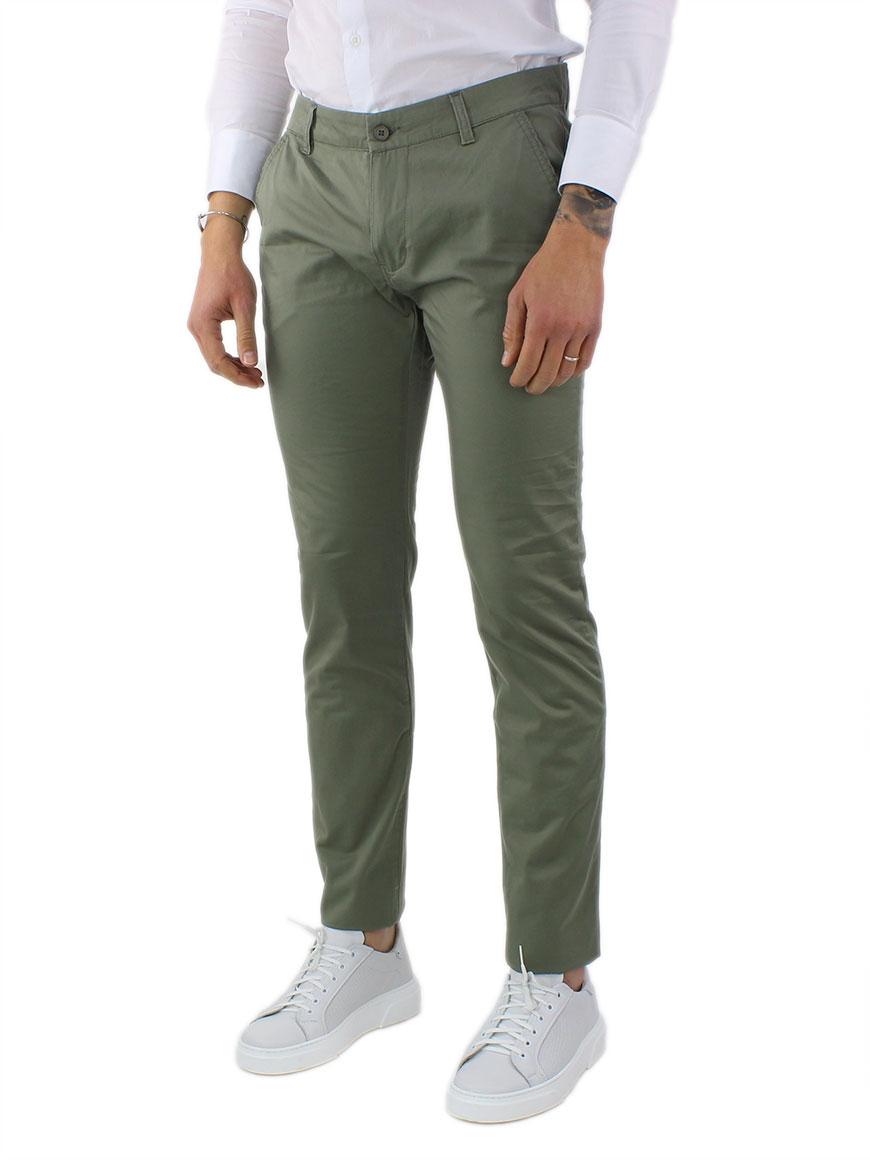 miniature 8 - Pantaloni Uomo Slim Fit Eleganti Primaverili Cotone Pantalone Chino Elasticizzat