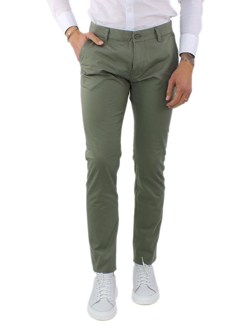 miniature 9 - Pantaloni Uomo Slim Fit Eleganti Primaverili Cotone Pantalone Chino Elasticizzat