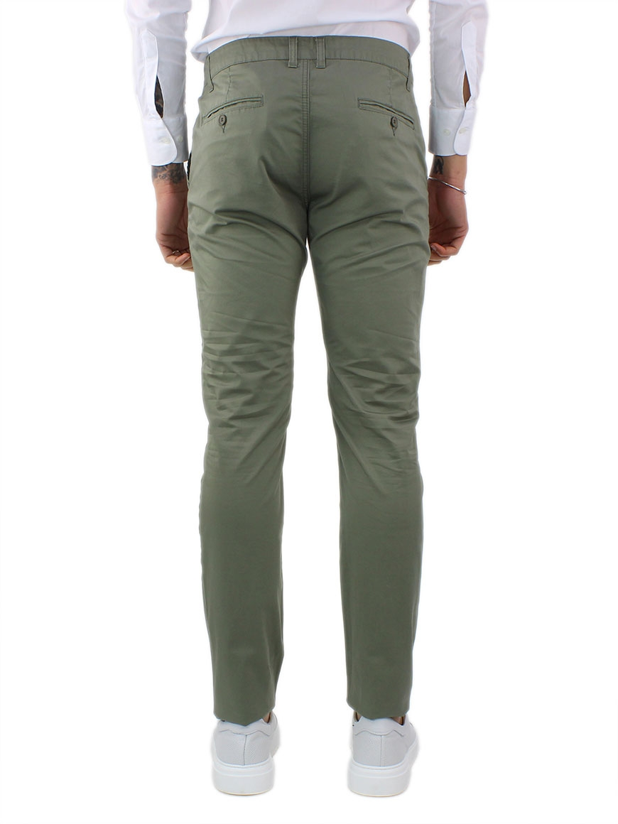 miniature 11 - Pantaloni Uomo Slim Fit Eleganti Primaverili Cotone Pantalone Chino Elasticizzat