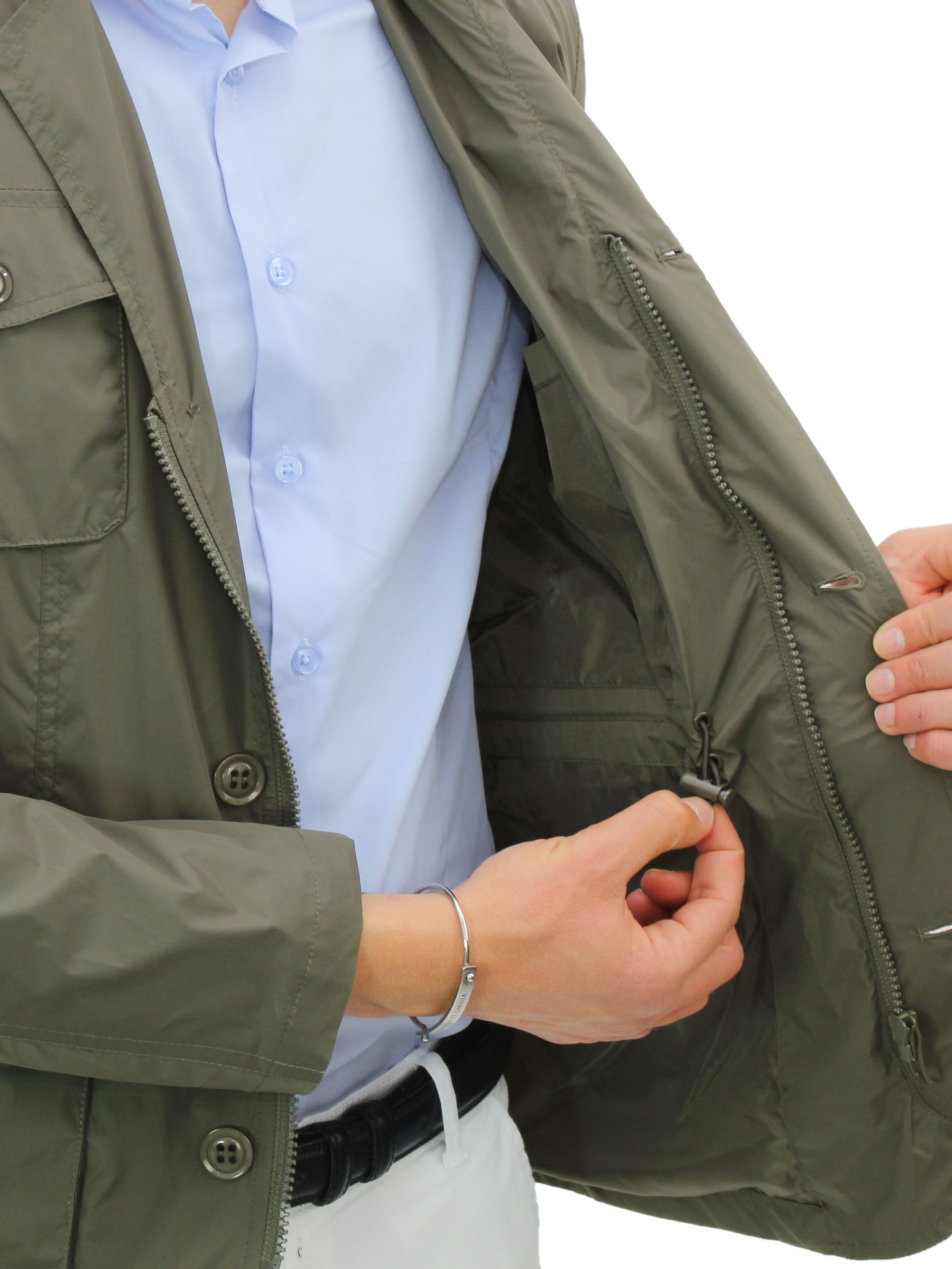 miniatura 8 - Giubbotto Uomo Primaverile Giacca a Vento Slim Fit Impermeabile Elegante