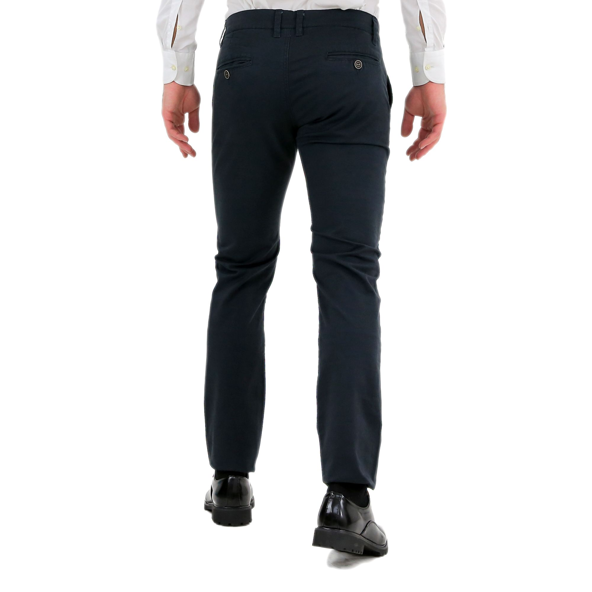Pantaloni-Uomo-Slim-Fit-Eleganti-Invernali-Cargo-Classico-Chino-Kaki-Tasca-Ameri miniatura 4