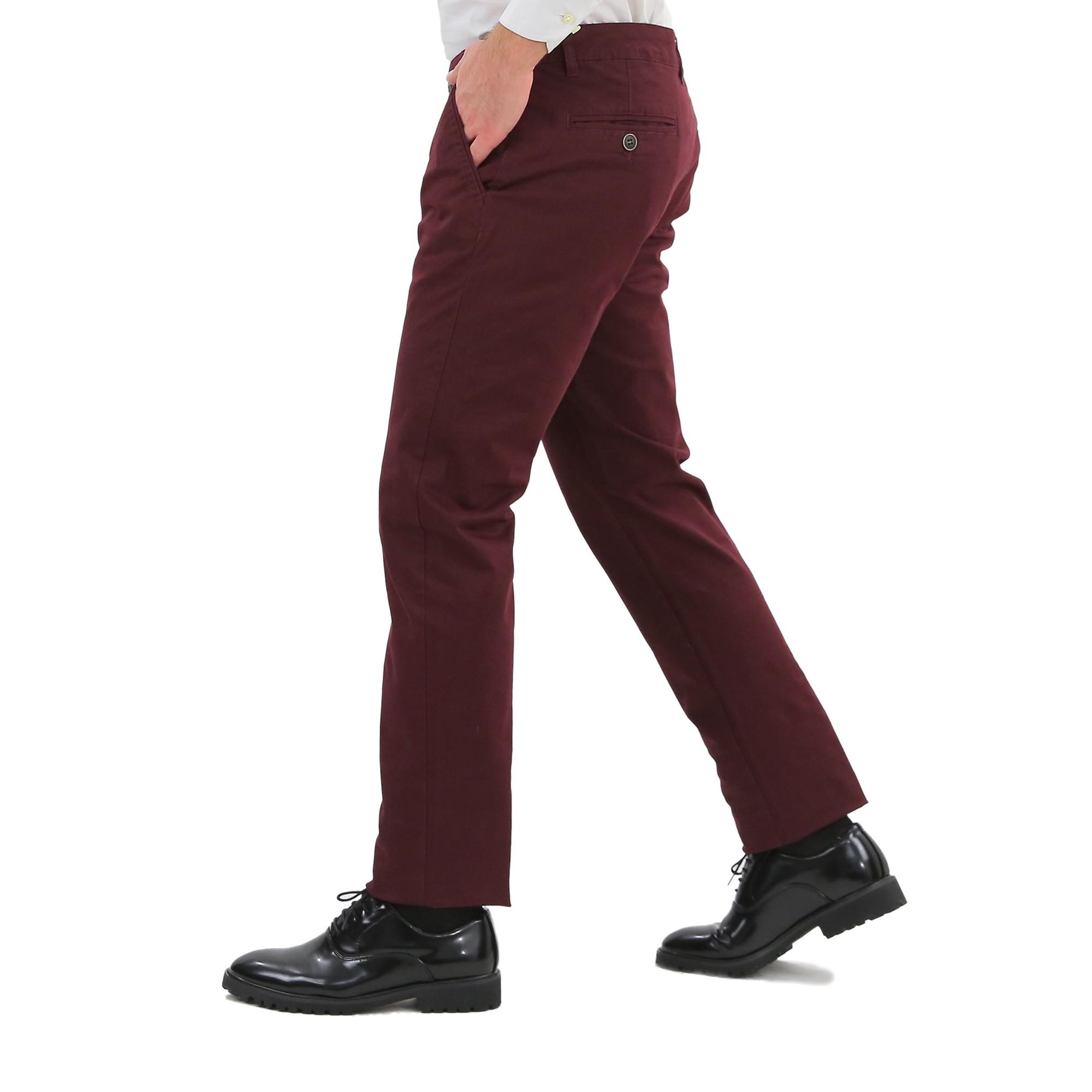 Pantaloni-Uomo-Slim-Fit-Eleganti-Invernali-Cargo-Classico-Chino-Kaki-Tasca-Ameri miniatura 12